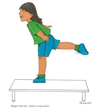 Begin With Gym : Balance Using a Beam